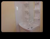 草加市K様邸ホーロー洗面台&サイドパネルで汚れ対策