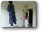 越谷市M様邸建主さんも珪藻土塗りに参加