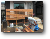 越谷市T様邸建主さんと大工さんで協力して作ったウッドデッキ