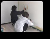 越谷市T様邸建主さんも珪藻土塗りに参加